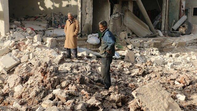 Rus uçakları Etarib'de pazar yerini vurdu 43 ölü