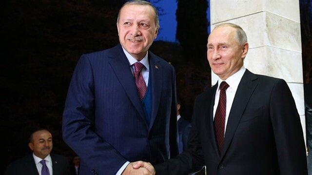 Cumhurbaşkanı Erdoğan ile Rusya Devlet Başkanı Putin bir araya geldi.