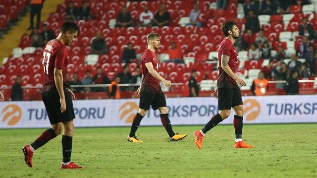 A Milli Takım, Lucescu yönetiminde çıktığı 6 maçta sadece 1 galibiyet elde etti.