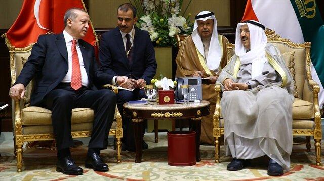 Cumhurbaşkanı Erdoğan ile Kuveyt Emiri Şeyh Sabah'ın görüşmesinin ardından imzalar atıldı.