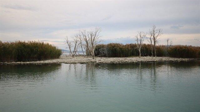 Beyşehir Gölü'nde ilginç görüntü