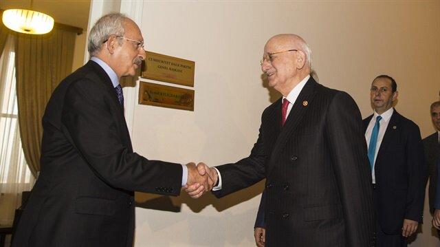 Kılıçdaroğlu'nun TBMM'deki makam odasında gerçekleşen görüşme, 55 dakika sürdü.
