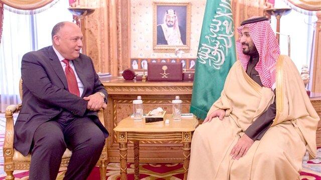 Mısır Dışişleri Bakanı Samih Şukri ve Suudi Veliaht Prens