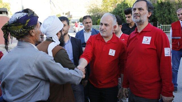 Türk Kızılayı Genel Başkanı Süleymaniye'de incelemelerde bulundu.