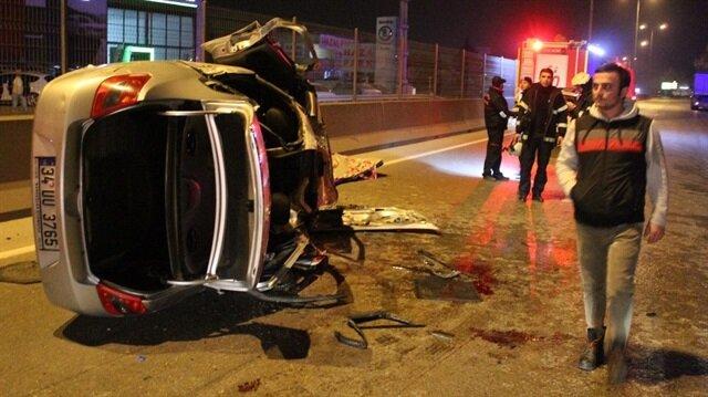 İzmit Yuvacık Yolunda korkunç kaza: 1'i ağır 4 yaralı