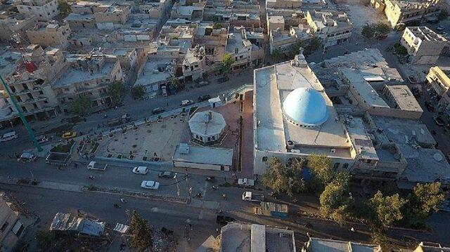 Azez, Cerablus, El-Bab ve Çobanbey'de savaşta hasar görmüş 110 cami onarılarak yeniden inşa edildi.
