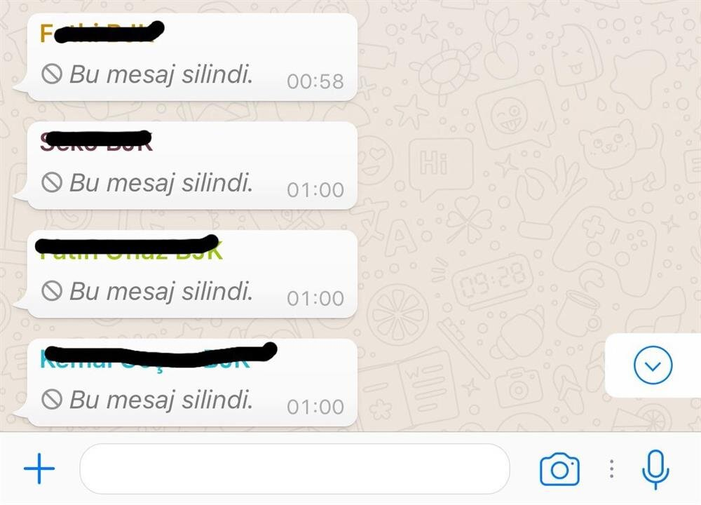 whatsappta silinen mesajlar görünür mü