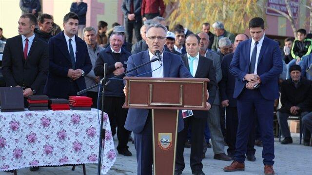 'Yukarıkırzı Köyü Şehit Kadınlar Anıtı'nın açılışına Maliye Bakanı Naci Ağbal katıldı.