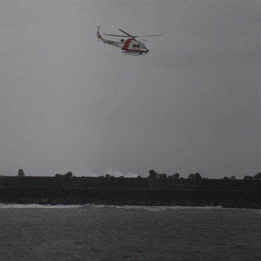 Bartın'da yük gemisi sürüklendi: Mürettebat helikopterle kurtarıldı