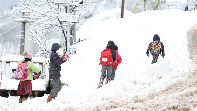 Yurdun dört bir yanında ilk kar yağışı