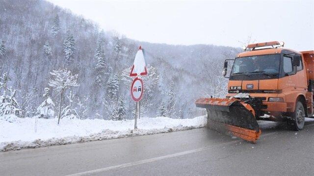 Sinop'taki mevsimin ilk kar yağışı başladı