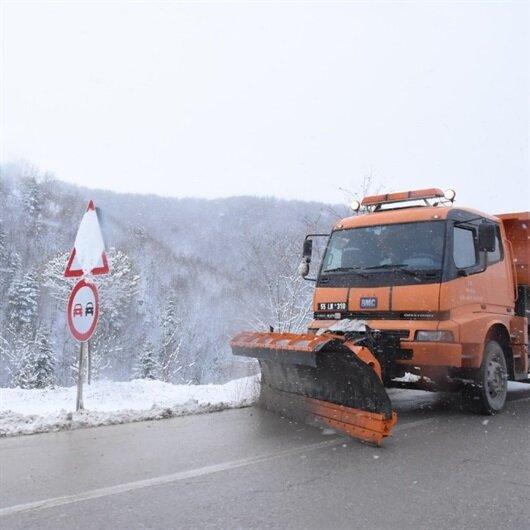 Sinop'ta mevsimin ilk kar yağışı başladı
