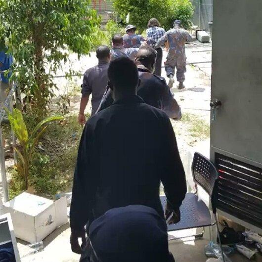 Gözaltı merkezini terk etmeyen mültecilere operasyon
