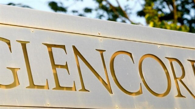 File Photo: The logo of commodities trader Glencore is pictured in front of the company's headquarters in Baar, Switzerland