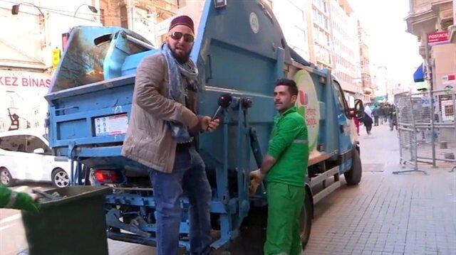 Muhabiri rezil eden temizlik görevlisi
