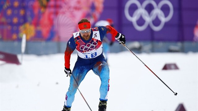 File Photo: Russia's Petukhov skis during the men's cross-country sprint free qualification