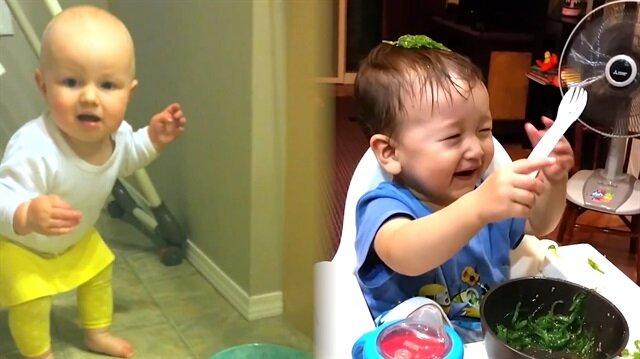 Sevimli bebeklerin birbirinden komik kazaları