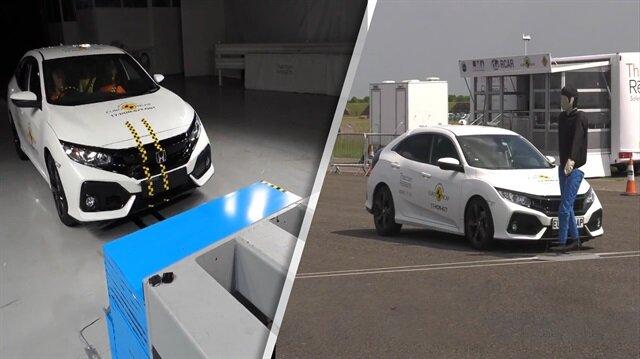 2018 Honda Civic çarpışma ve fren testinde