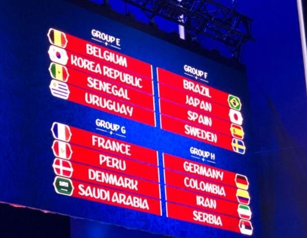 Dünya Kupası'ndaki deneme kurasında oluşan gruplar.