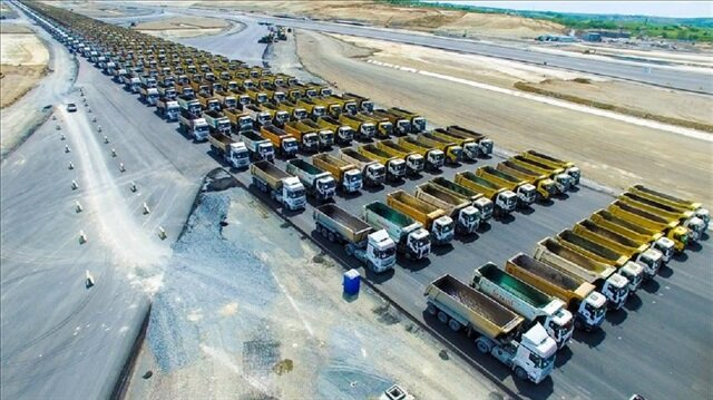 3. havalimanı için 500 kamyon aranıyor