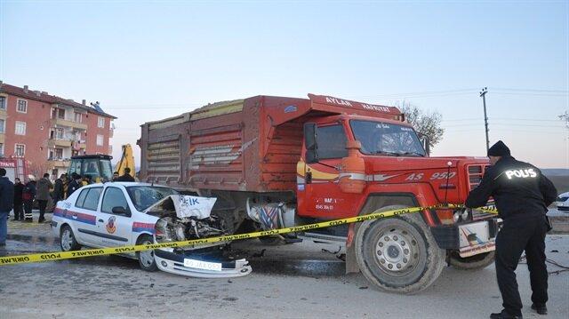 Kırşehir'de jandarma ekibinin trafik kazası