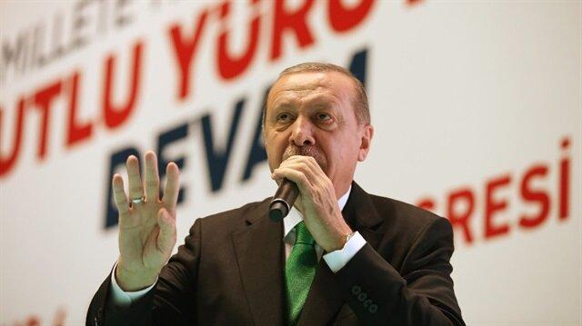 AK Parti Muş İl Başkanlığı kongresinde konuşan Cumhurbaşkanı Recep Tayyip Erdoğan