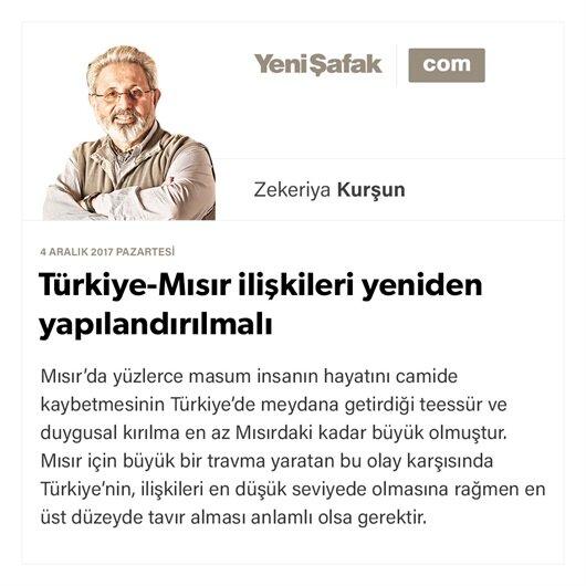 Türkiye-Mısır ilişkileri yeniden yapılandırılmalı