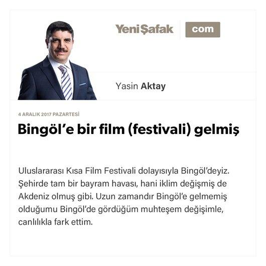 Bingöl'e bir film (festivali) gelmiş