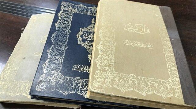 Filistin camisinde Abdulhamid döneminde basılan Kur'an-ı Kerimler bulundu.