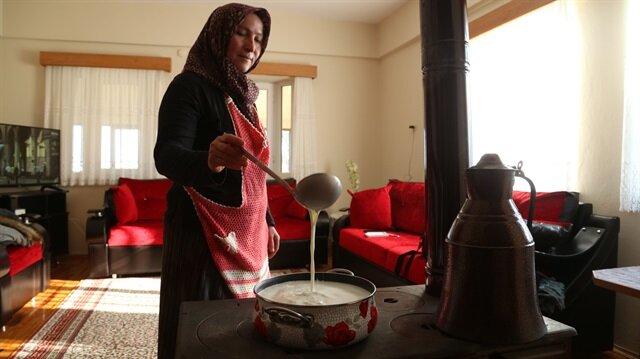 Nuray Karagöl makes water buffalo cream