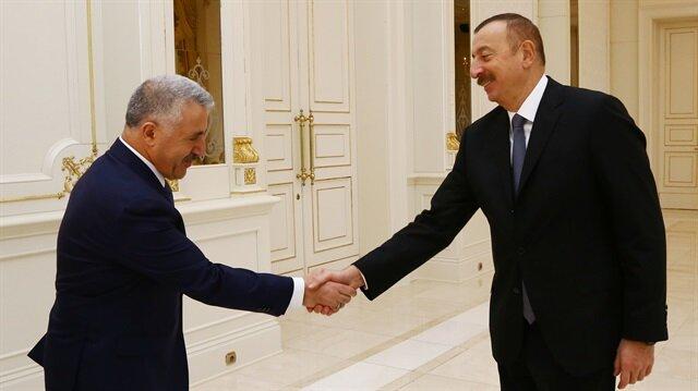 Azerbaijani President Ilham Aliyev met Turkish Transport, Maritime Affairs and Communications Minister Ahmet Arslan