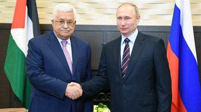 Filistin Devlet Başkanı Mahmud Abbas, Rusya Devlet Başkanı Vladimir Putin