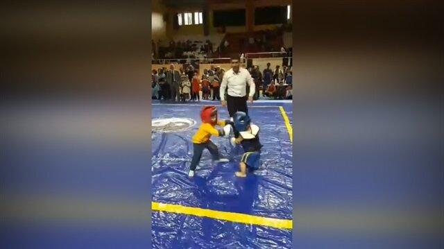 Minik çocukları dövüştürenlere büyük tepki!