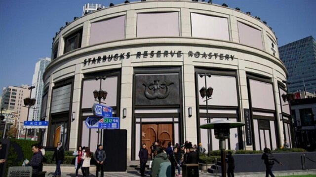 A view of the new Starbucks Reserve Roastery in Shanghai, China