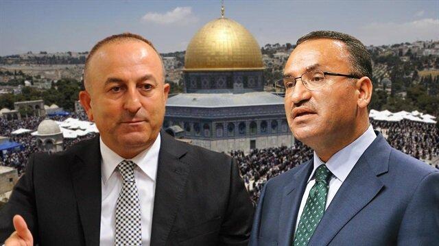 Bozdağ ve Çavuşoğlu'ndan Kudüs açıklaması