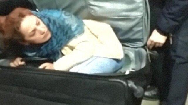 Valiz içerisinde Türkiye'ye kaçak girecekti.