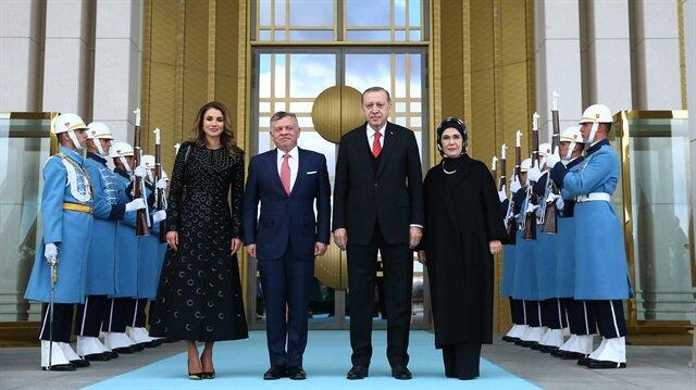 أردوغان يستقبل العاهل الأردني في أنقرة