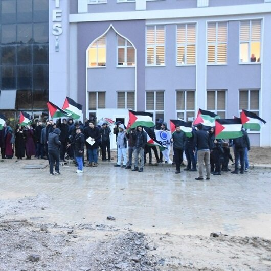 Sinop'ta Kudüs protestosu yapıldı