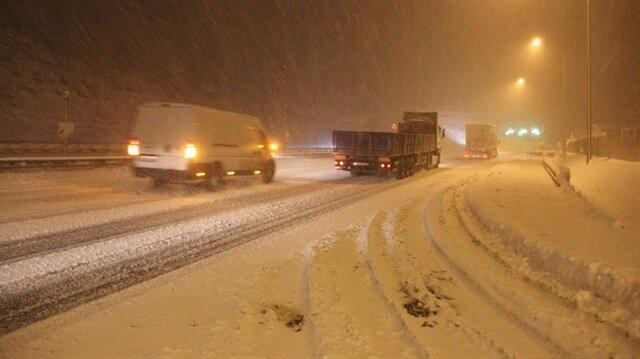İstanbul-Ankara yolu ulaşıma kapandı