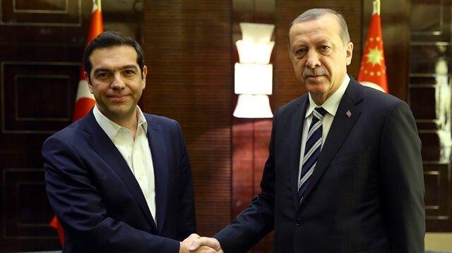 Arşiv: Cumhurbaşkanı Recep Tayyip Erdoğan, Yunanistan Başbakanı Çipras'ı Külliye'de ağırlamıştı