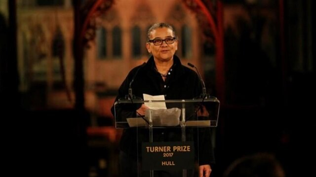 Artist Lubaina Himid speaks after being announced as the winner of the Turner Prize in Hull, Britain
