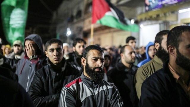 Gazze'de Kudüs kararını protesto ettiler