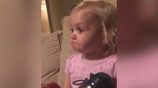 Filmin etkisinden çıkamayan çocuk böyle ağladı