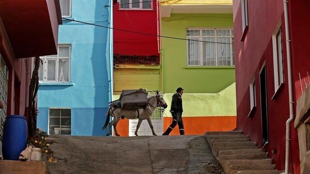 "Narrow streets' garbage collector mule ""Beyaz"""