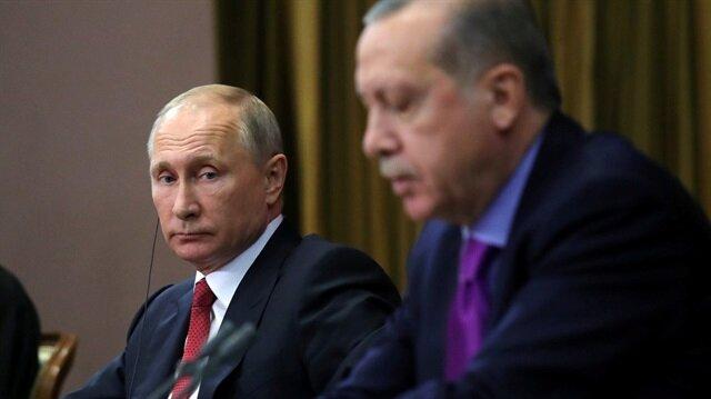 Rusya Devlet Başkanı Vladimir Putin ve Cumhurbaşkanı Recep Tayyip Erdoğan, Astana'daki Suriye zirvesinde bir araya gelmişti. (23 Kasım 2017)