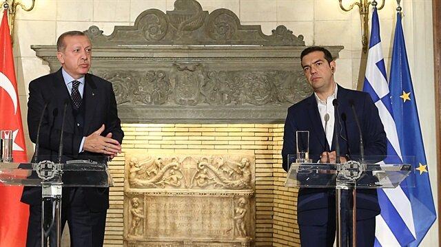 Cumhurbaşkanı Erdoğan ve Başbakan Çipras ortak açıklamada konuştu.