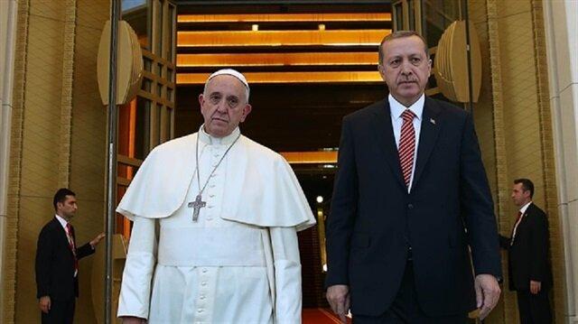 Erdoğan'dan Papa'ya: Başkenti Doğu Kudüs olan Filistin Devleti şart