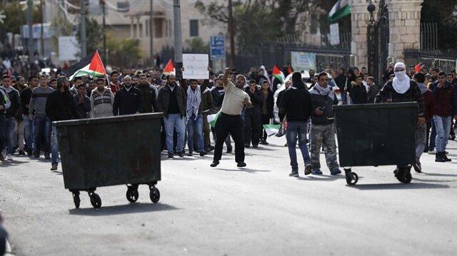Batı Şeria'da Kudüs protestosu