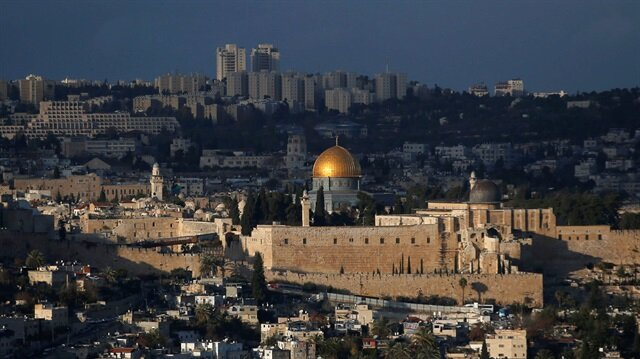 A general view of Jerusalem shows the Dome of the Rock