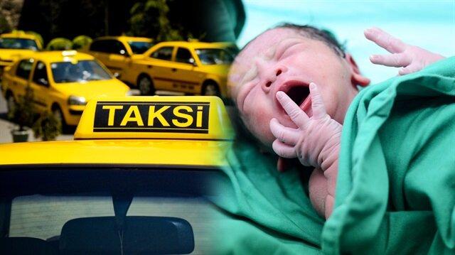 Hastaneye peş peşe getirilen iki kadın da takside doğum yaptı